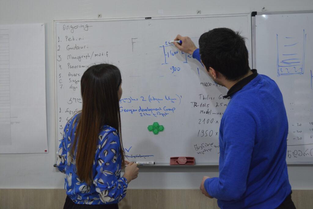 04 tech engineering groups director irine gloveli and companys sales executive anton shavtvalishvili