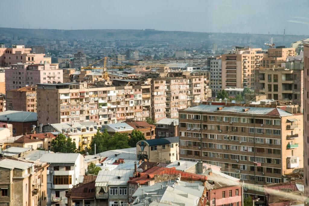armenian city buildings yerevan