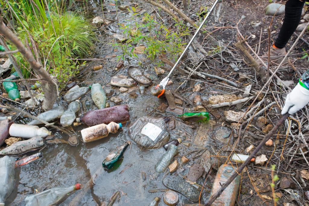 plastic bottle waste 2 on rioni river bank 22 april 2019 0