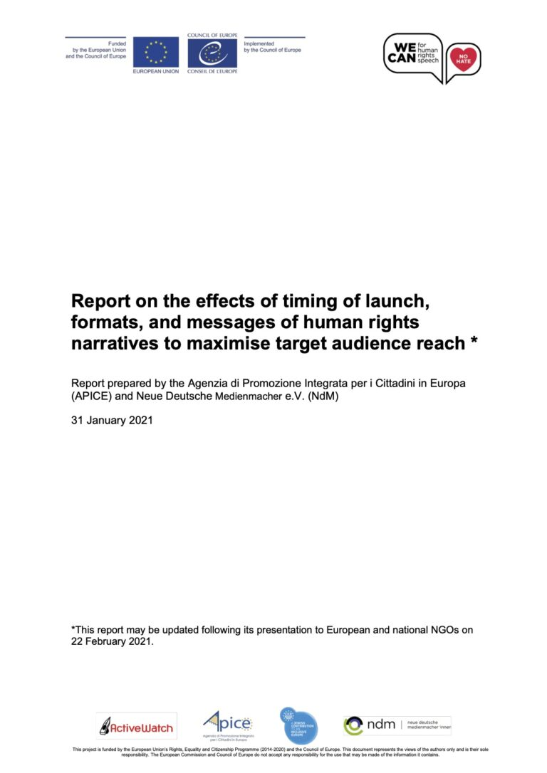 report on effect of timing formats and messages