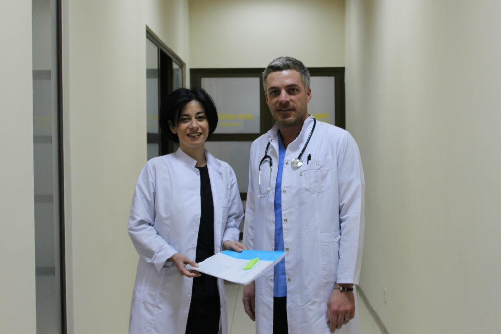 tekla mamageishvili and nika kacharava are getting ready for a planned surgery in the clinic 0